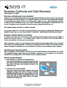 Business Continuity and Data Recovery