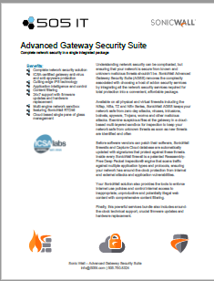 Advanced Gateway Security Suite